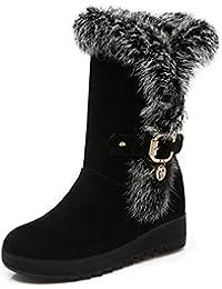 fashion uggs botas cortas/Añadir algodón caliente señoras zapatos planos/ hebilla antideslizante zapato destellos/Además de su tamaño