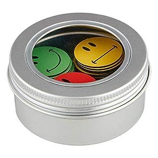 Smileyboard Smiley Magnete - Vielseitige Emoji Magnete für Magnettafeln - Je 20x grüne, gelbe und rote Tafelmagnete spiegeln die aktuelle Stimmung - Inklusive Magnetdose für die optimale Aufbewahrung