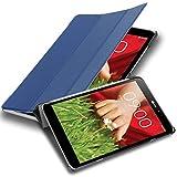 Cadorabo Custodia Tablet per LG G Pad 8.3 V500 in Blu Scuro Jersey - Copertura Protettiva Molto Sottile di Similpelle in Stile Libro con Auto Wake Up e Funzione Stand