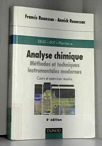 Analyse chimique, 4e édition