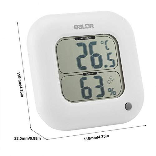 BALDR B0323H - Reloj Despertador Digital con Pantalla LCD, termómetro...