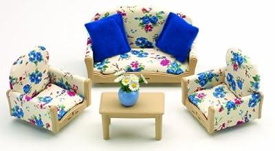 Sylvanian Families - Salón para casa de muñecas (sofá, mesa de café y sillones) por Sylvanian Families