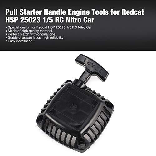 MachinYeseed Zugstartergriff Rückstoß-Startsatz Motorwerkzeuge Zubehör für Redcat HSP 25023 1/5 Nitro-Benzin-RC-Cars Modell schwarz