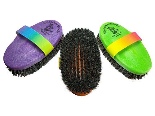 Caballo cepillo arcoiris en verde para niños con rosshair