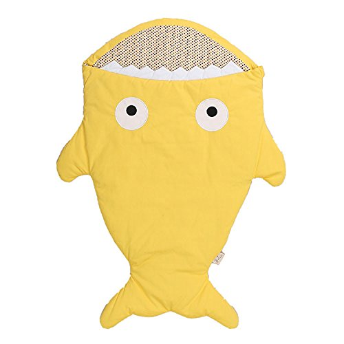 Lemonda Baby Schlafsack Neugeboren Hai Cartoon Winter-Einschlagdecke Fusssack für Babyschale, Autositz, Buggy (Erwachsene Disney Cartoons)
