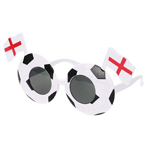 nbrille Brillen 2018 Welt Cup Fanci-Frames Sport Fan Kostüm Fußball Partei Liefert (England) (Kostüm Welt)
