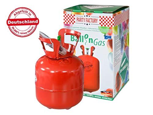 Alsino Heliumgasflasche für ca 20 Luftballons Ballongas Heliumgas Einweg Helium Ballongas Geburtstag Hochzeit Folienballons