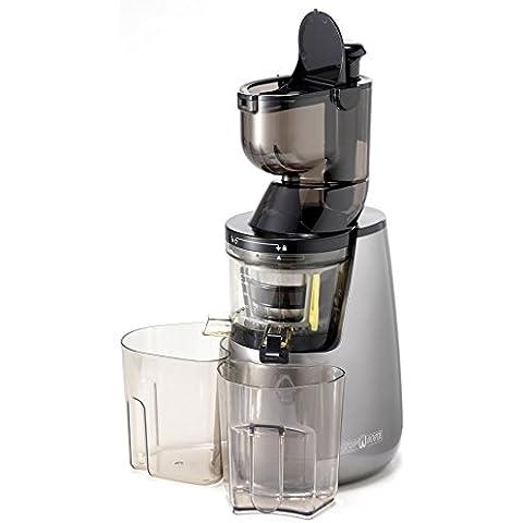 TOPWAVE ES40 BIG Extractor de zumos en frìo profesional, 40 RMP, 250W, boca de ancha 8xcm, gris perla