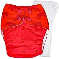Bouncing Peaches PeachPERFECT V1.0 Cloth Diaper Kaziranga with Organic Cotton Insert (One Size)