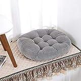 LIUXRONG Stuhlkissen, Fußmatte, Runde Tuch Kissen, verdicken und erhöhen Cotton Kissen - Futon Gesäß - Geeignet für Kissen, Erker, Tatami, Essecke,E_55*55cm