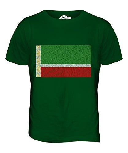 CandyMix Tschetschenien Kritzelte Flagge Herren T Shirt Flaschengrün