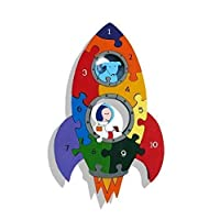 Rocket 1-10 Number Jigsaw Puzzle - Chunky, Bright & Educational - 29x17.5cms