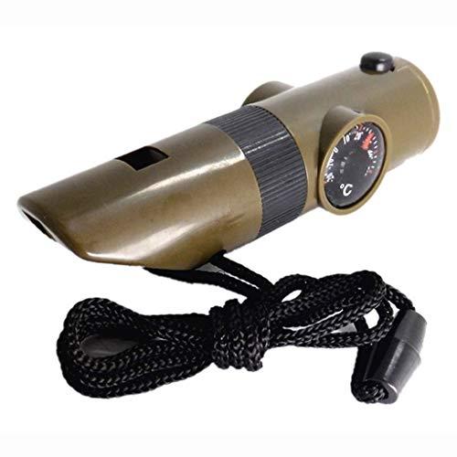 Unbekannt Sieben in Einem Kompass Multifunktionsfunktion mit Pfeife mit LED-Leuchten mit Thermometer