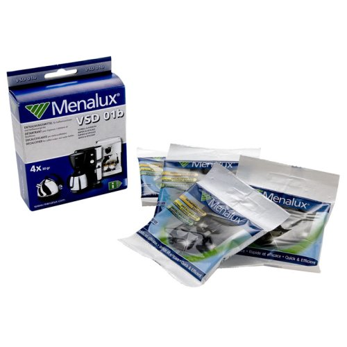 Menalux VSD01B - Anticalcare, 4bustine con decalcificante in polvereper macchine da caffè espresso e filtro