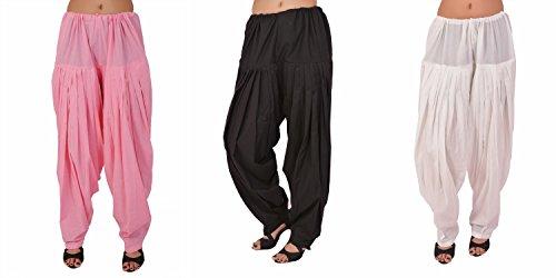 Stylenmart Women's Cotton Patiala Salwar Combo Pack (STMATCPA78601_Pink