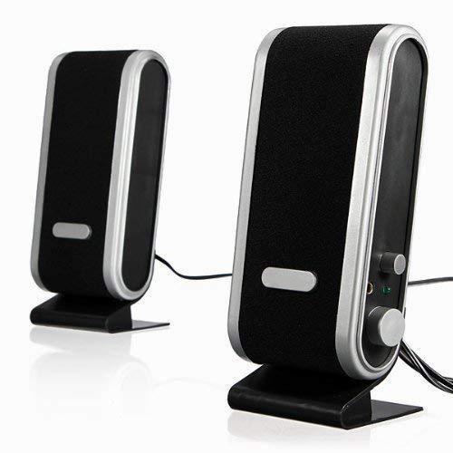 Hilai Agua y Madera 3.5 mm Auricular Jack 120W USB Powered Multimedia estéreo Ordenador de sobremesa Altavoces Sistema para PC portátil Mac