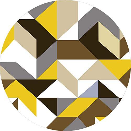 ROSE GUO Tapis Mélangé Rond Simplicité Moderne Motifs Géométriques Couverture Chambre Salon Tapis De Chevet,Diameter120cm