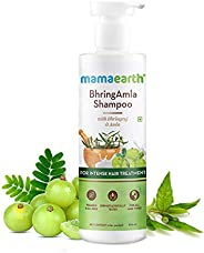 Mamaearth BhringAmla Shampoo for dry & frizzy hair with Bhringraj & Amla for Intense Hair Treatment