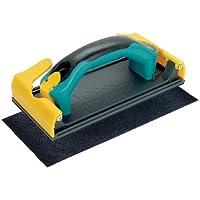 Wolfcraft 4056000 1 Ponceuse à Main, Poignée Bi-matière Softgrip + Patin en Toile Abrasive à Mailles Grains 120