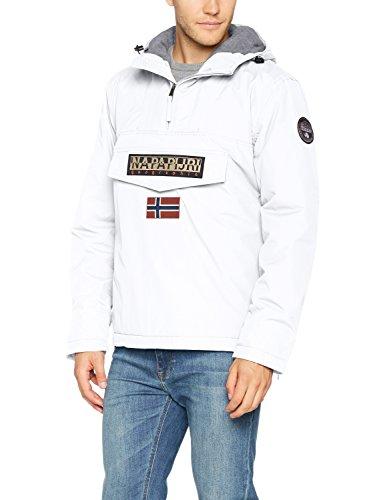 Napapijri Herren Rainforest Winter Jacke, Weiß (Bright White 002), X-Large -