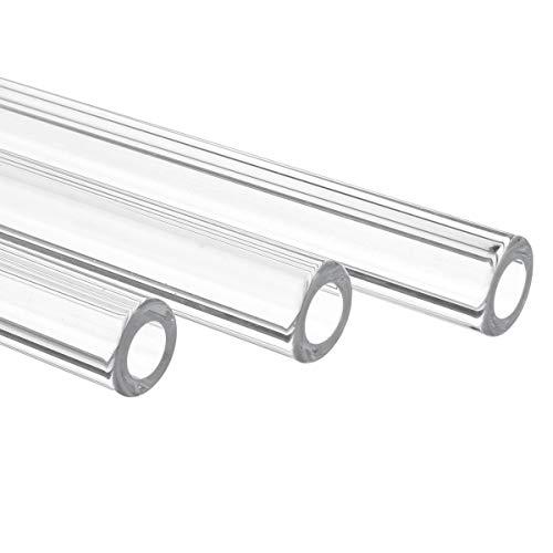 ChaRLes 10 Stücke 250Mm Od 12Mm 1,5 Mm Dicke Wand Borosilikat Glas Blasrohr -