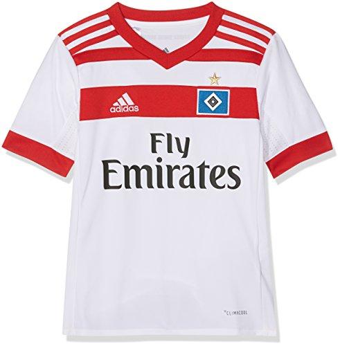 adidas Kinder Hamburger SV Heim Trikot White/Scarlet 164