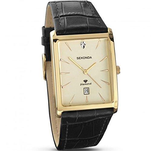 Sekonda Diamond Set (91JAA20) orologio da uomo con quadrante rettangolare