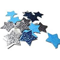 Silber Glitter und Blau Glitter Stern Konfetti für Hochzeits Geburtstagsfeier Dekoration