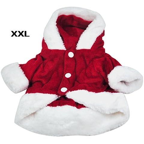 SODIAL(R) Disfraces para perros Navidad del perro del angel Ala Escudo del juego de Santa de lujo para mascotas Regalo - Red (XXL)