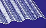 Acryl Wellplatten Profilplatten Sinus 76/18 wabe Struktur klar 3000 x 1045 x 3,0 mm