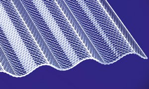 Acryl Wellplatten Profilplatten Sinus 76/18 wabe Struktur klar 2000 x 1045 x 3,0 mm