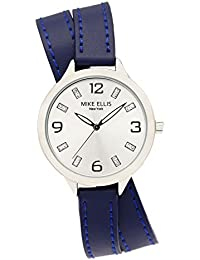 Mike Ellis New York Damen-Armbanduhr Streamline Analog Quarz Leder SL3142F7