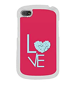 Love Heart 2D Hard Polycarbonate Designer Back Case Cover for BlackBerry Q10