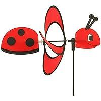 CIM Campanas de viento – Little Magic Ladybird - aerogenerador: Ø38cm, diseño: 35 x 12 cm, altura total: 85 cm - resistente a los rayos UV y a la intemperie incl. varilla de fibra de vidrio