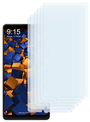 mumbi Schutzfolie kompatibel mit Xiaomi Mi MIX 2 Folie klar, Bildschirmschutzfolie (6x)