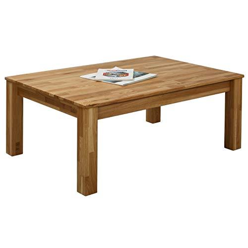 Table basse en chêne Bonn 110 x 60 x 45 cm en bois massif