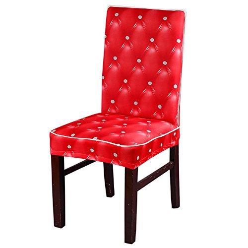 Ansenesna Stuhlhussen Für Hochzeit Party Schwingstühle Stretch Hochlehner Universell Husse Soft Elegant Stuhlüberzüge (Rot)
