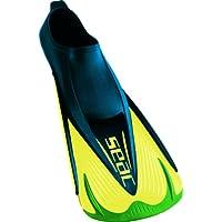 Seac Aletas TEAM - Aletas de entrenamiento para natación, color verde y amarillo, talla 46-47