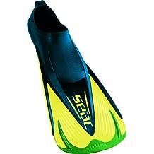 Seac Aletas TEAM - Aletas de entrenamiento para natación, color verde y amarillo, talla