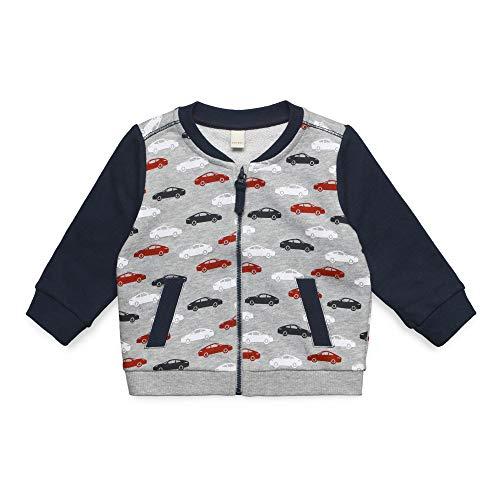ESPRIT KIDS Baby - Jungen Sweatshirt Card Sweatshirt, per Pack Silber (Heather Silver 223), 68 (Herstellergröße: 68)