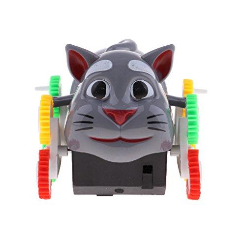 D DOLITY Elektrische Haustier Katze / Hunde Spielzeug mit 12 Rädern, Batteriebetriebene, Weihnachtsgeschenk für Jungen und Mädchen - Katze (Batteriebetriebene Spielzeug Katze)
