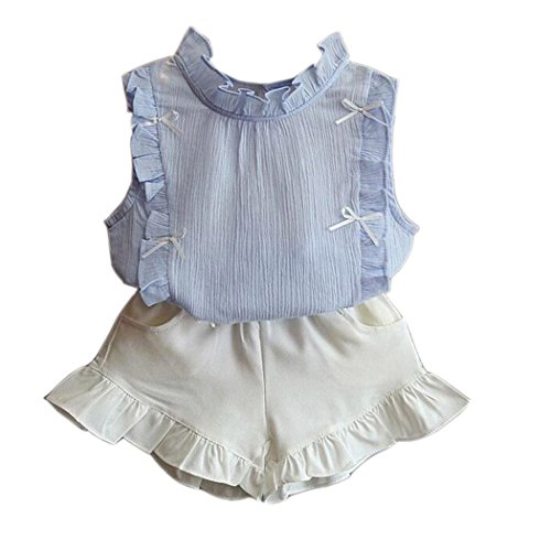 idungssets Mädchen Ärmellos Top + Shorts Prinzessin Outfits Anzug Festzug Party Kostüme (Tanzabend Kostüme Kinder)