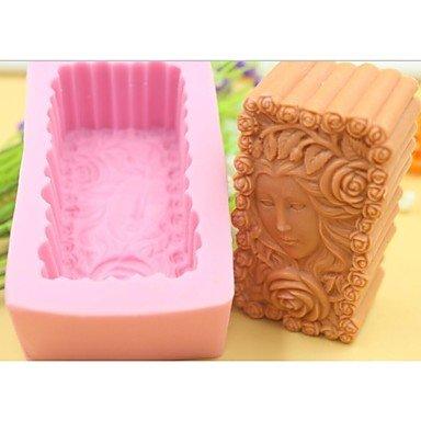 lllzz Schöne Mädchen Rose Blume Form Fondant Kuchen Schokolade Silikon Form Kuchen Dekoration Werkzeug, l10.1cm * w5.9cm * H4.2cm - Turtles-silikon-form Ninja