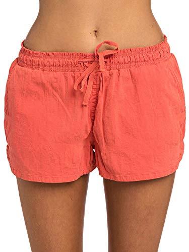 Rip Curl POP Walkshort Damen,Shorts,Hot Pants,Kurze Hose,Beach-wear,elastischer Bund,Deep Sea Coral,S -