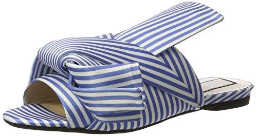 N°21 Damen 8283.1 Offene Sandalen Blau (BIANCO/AZZURRO)