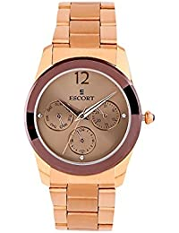Escort Multifunction Brown Dial Women's Watch- 3051 BRNRGM.9