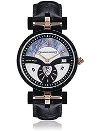 Chrono Diamond 82110_schwarz-38 mm - Reloj , correa de cuero color negro