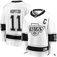 Kopitar # 11 Kings Jersey de Hockey sobre Hielo Manga Larga para Hombre Hockey sobre Hielo Ropa Deportiva Competencia Equipo Entrenamiento Uniforme Fan Jersey Real Jersey Blanco S-XXXL-XXXL
