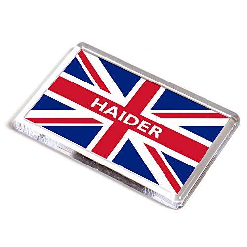 Kühlschrankmagnet - Haider - Union Jack Flagge - Geschenk für Jungen