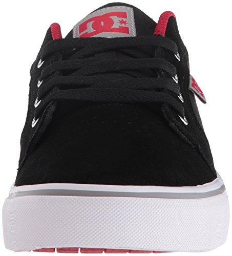 Dc Shoes Anvil D0303190, Sneaker Uomo Nero/Rosso/Grigio